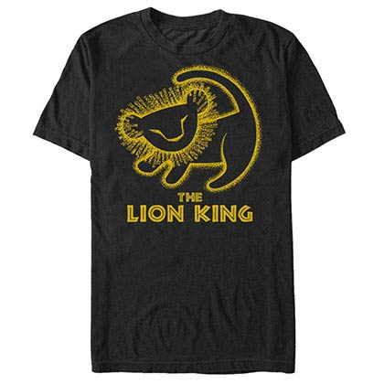 Disney Lion King Stamp Black T-Shirt