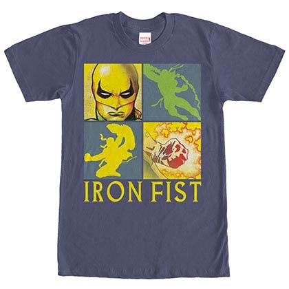Marvel Teams 4 Square Blue Mens T-Shirt