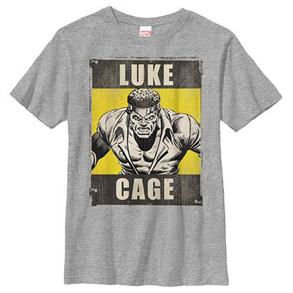 Avengers Luke Cage Gray Youth T-Shirt