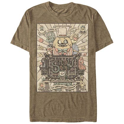 Adventure Time Show Time Brown T-Shirt