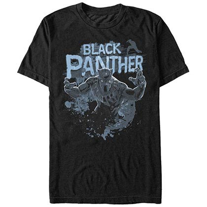 Black Panther Splats Black Mens T-Shirt