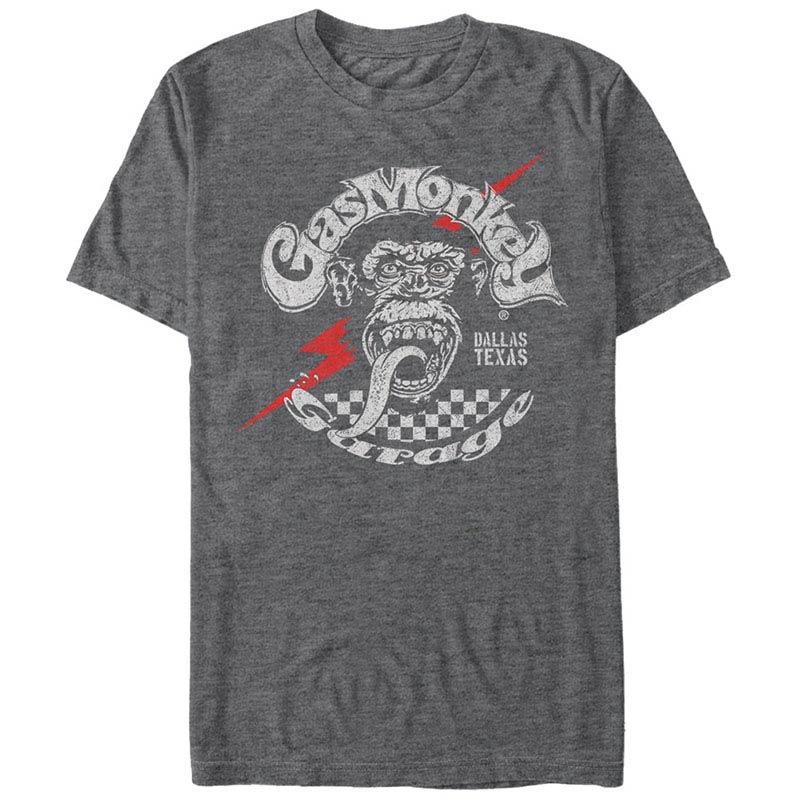 Gas Monkey Garage Texas Bolt Gray T-Shirt
