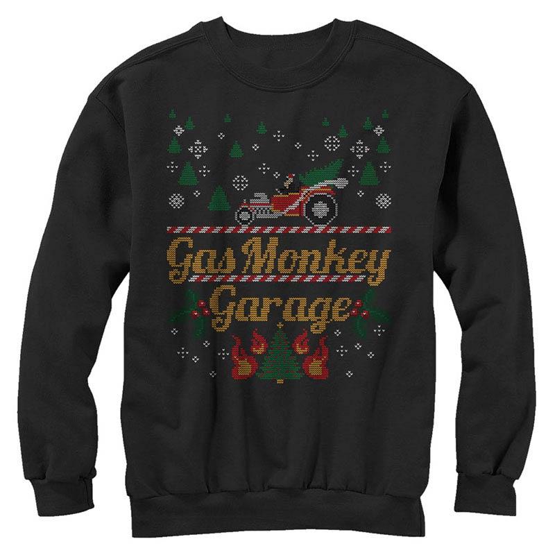 Gas Monkey Garage Monkey Sweater Black Long Sleeve T-Shirt