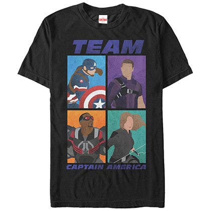 Captain America TeamBlack Mens T-Shirt