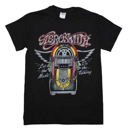Aerosmith Men's Black Juke Box Tee Shirt