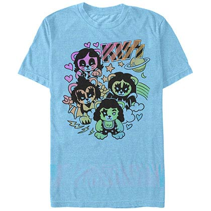 KISS Bears Blue T-Shirt