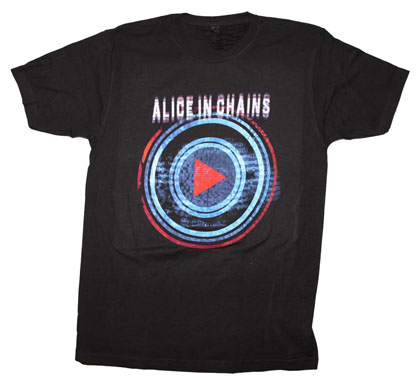 Alice In Chains Men's Black Played Tee Shirt