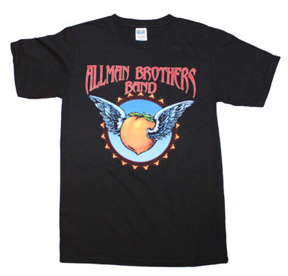 Allman Brothers Band Men's Black Flying Peach Tee Shirt