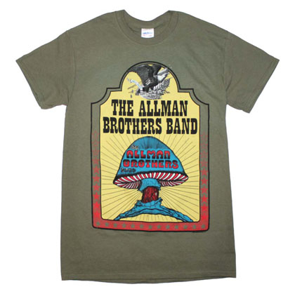 Allman Brothers Band Men's Military Green Hell Yeah T-Shirt