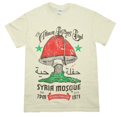 Allman Brothers Band Men's Cream Syria Mosque Tee Shirt