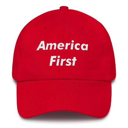 America First Red Dad Hat