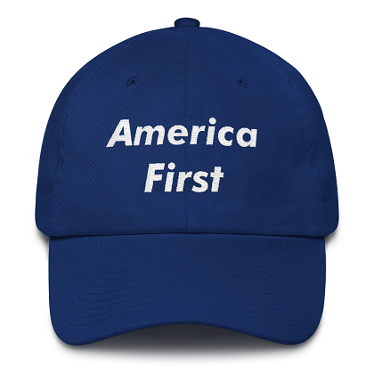 America First Blue Dad Hat