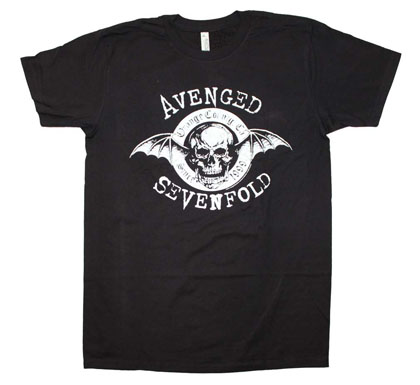 Avenged Sevenfold Men's Black Origins Tee Shirt