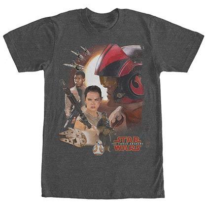 Star Wars Episode 7 New Alliances Gray T-Shirt