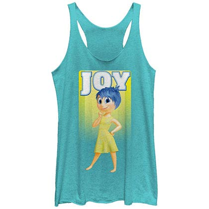 Disney Pixar Inside Out Joy Blue Juniors Racerback Tank Top