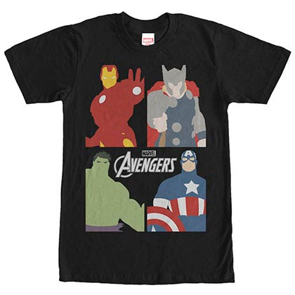 Avengers Block Party Black Mens T-Shirt