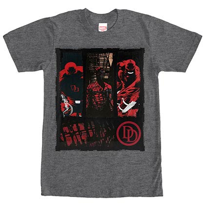 Daredevil Collage Gray Mens T-Shirt