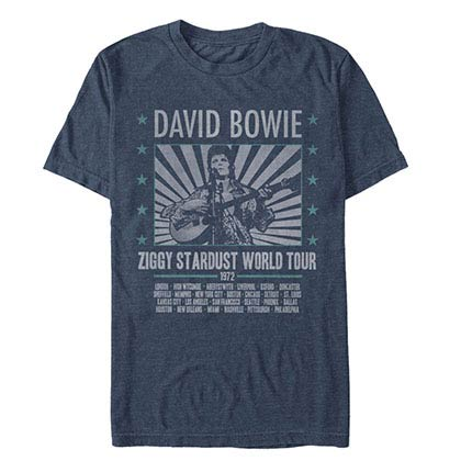David Bowie Inverted Poster Blue T-Shirt