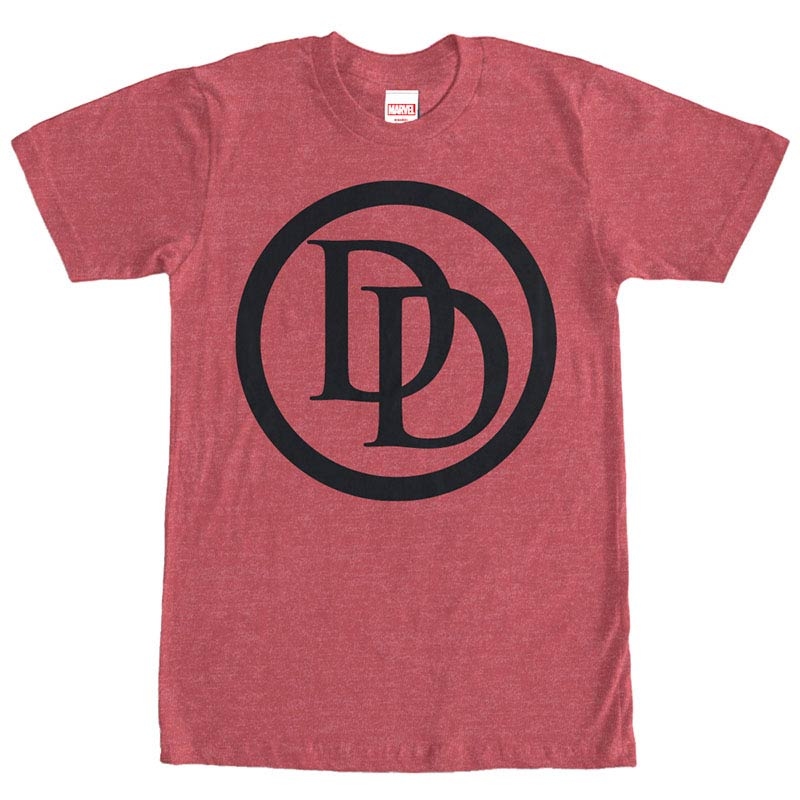 Daredevil Logo Red Mens T-Shirt