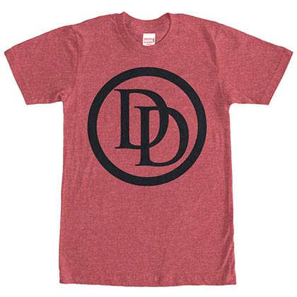 DaredevilLogo Red Mens T-Shirt