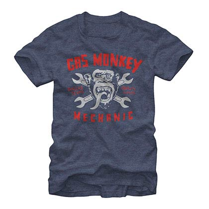 Gas Monkey Garage Mechanic Blue T-Shirt