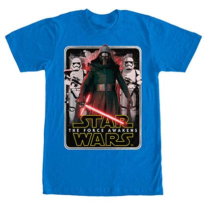 Star Wars Episode 7 Mangled Edge Blue T-Shirt