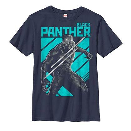 Black Panther Big Black Cat Blue Youth T-Shirt