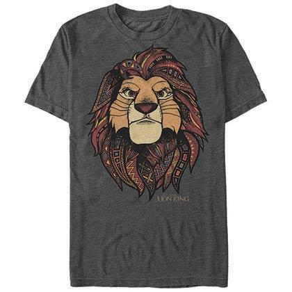 Disney Lion King Ornate Gray T-Shirt
