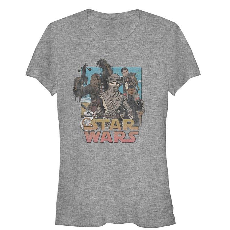 star wars episode 7 leading lady gray t shirt. Black Bedroom Furniture Sets. Home Design Ideas
