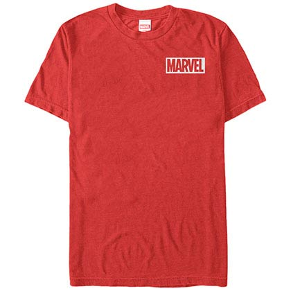 Marvel Teams Pocket Logo Red Mens T-Shirt