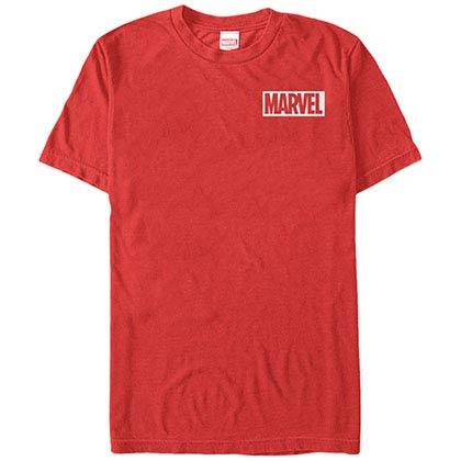 Marvel Teams Pocket Logo Red Mens T-Shirt