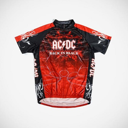 AC/DC Back in Black Men's Cycling Jersey