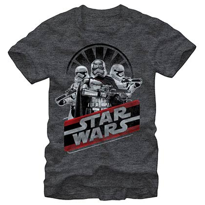 Star Wars Episode 7 Troops Trips Gray T-Shirt