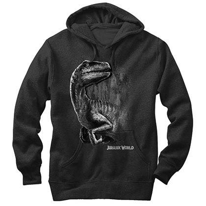 Jurassic World Raptor Smile Black Lightweight Hoodie