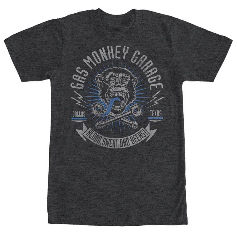 Gas Monkey Garage Reset Garage Gray T-Shirt