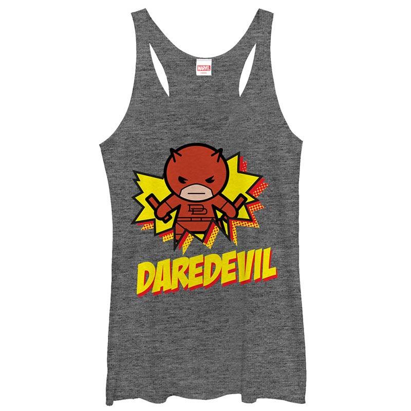Daredevil Kamaii Gray Juniors Racerback Tank Top
