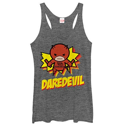 Daredevil Kamaii Gray Juniors Racerback Tank Top