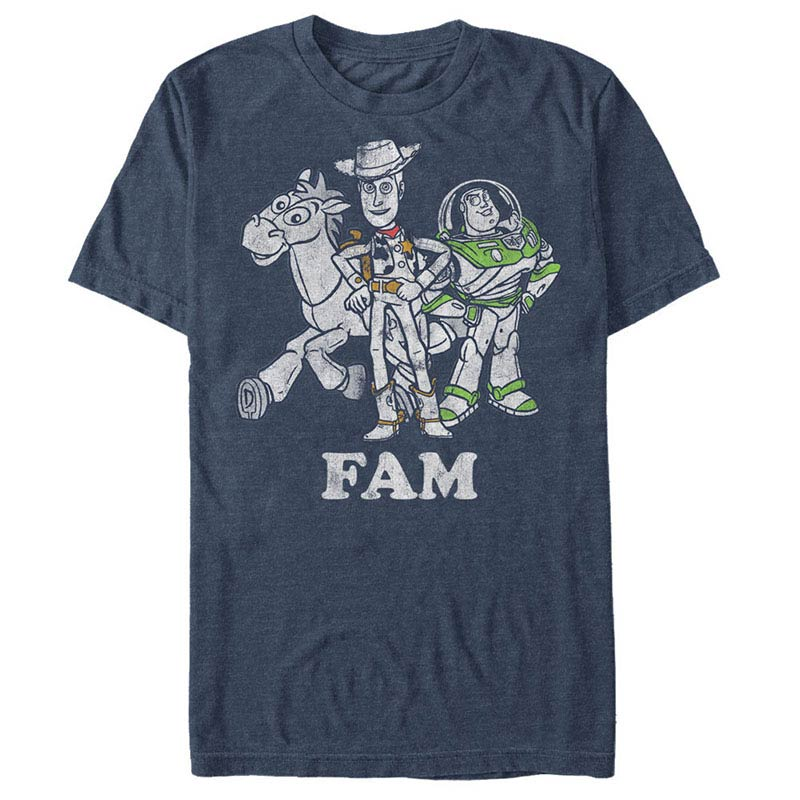 Disney Pixar Toy Story 1-3 FAM Blue T-Shirt
