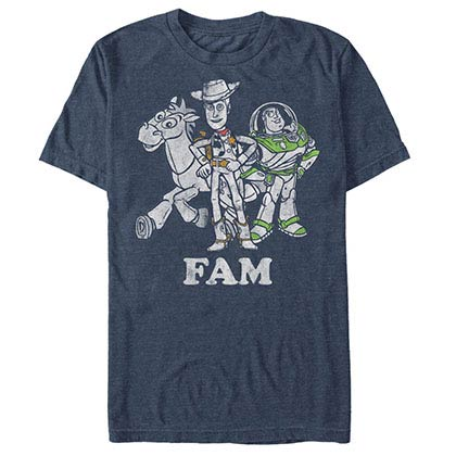 Disney Pixar Toy Story 1-3 FAM Blue T-Shirt