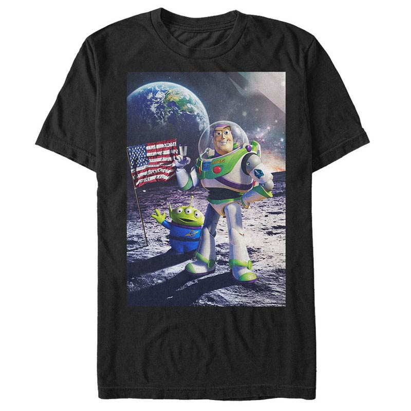 Disney Pixar Toy Story 1-3 Cosmic Explorer Black T-Shirt