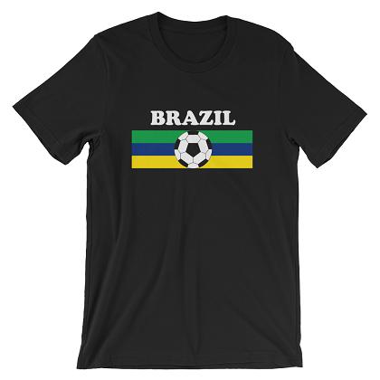 World Cup Soccer Brazil Black Tshirt