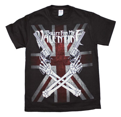Bullet for my Valentine Crossed Guns T-Shirt