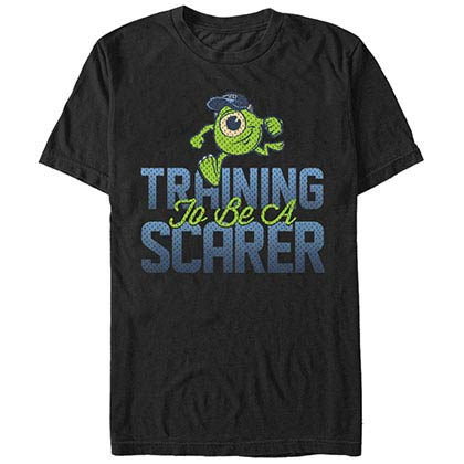 Disney Pixar Monsters Inc University Scarer In Training Black T-Shirt