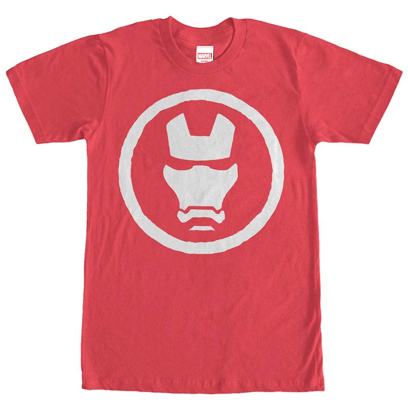 Iron Man Mask Red Mens T-Shirt