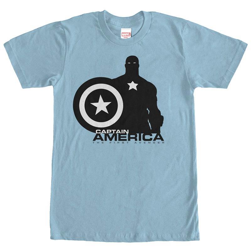 Captain America Capn Silo Blue Mens T-Shirt