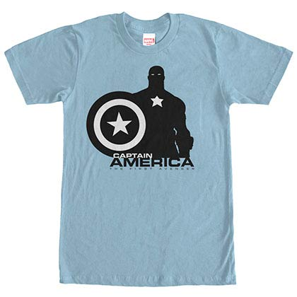 Captain America Capn Silo Blue Mens T-Shirt