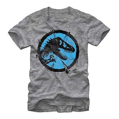Jurassic World Crackpot Gray T-Shirt