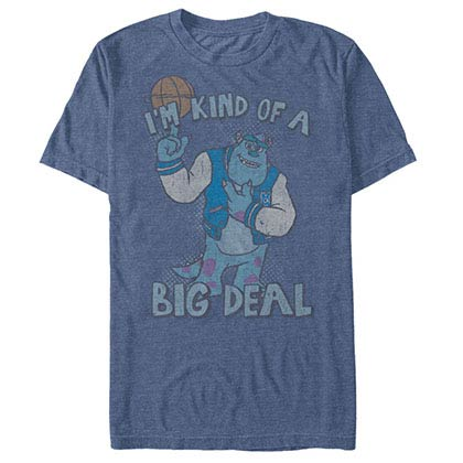 Disney Pixar Monsters Inc University Big Deal Blue T-Shirt