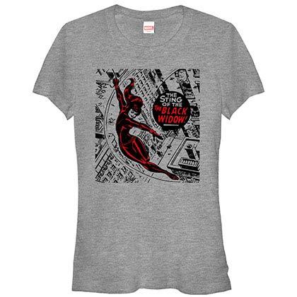 Avengers Widow City Gray Juniors T-Shirt