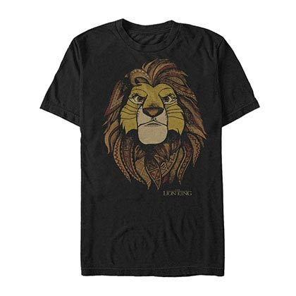 Disney Lion King Africa Black T-Shirt